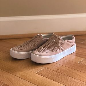 Pink Marc Fisher Woven Tennis Shoes